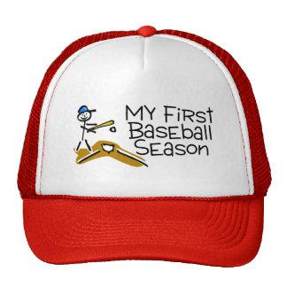 Baseball My First Baseball Season (Stick Figure) Cap