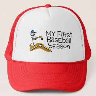 Baseball My First Baseball Season (Stick Figure) Trucker Hat