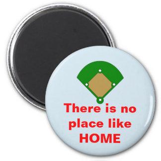 Baseball No Place Like Home Magnet