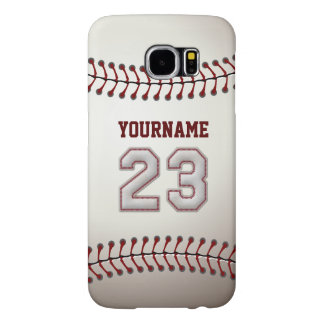 Baseball Number 23 Custom Name Stylish and Unique Samsung Galaxy S6 Cases