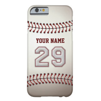 Baseball Number 29 with Your Name - Modern Sporty Barely There iPhone 6 Case