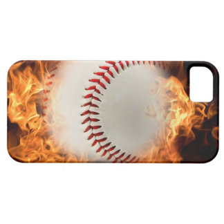 Baseball on fire case for the iPhone 5