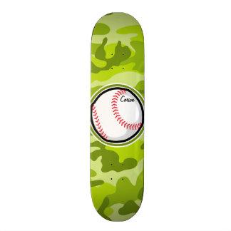 Baseball on Green Camo, Camouflage Skate Boards