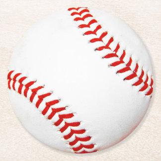 Baseball Paper Coasters Round Paper Coaster