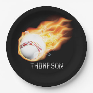 Baseball Party Personalized 9 Inch Paper Plate
