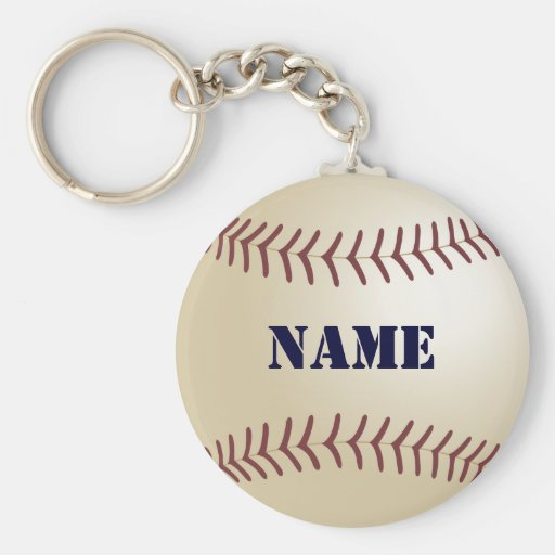 Baseball Personalised Keychain