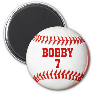 Baseball Personalized 6 Cm Round Magnet