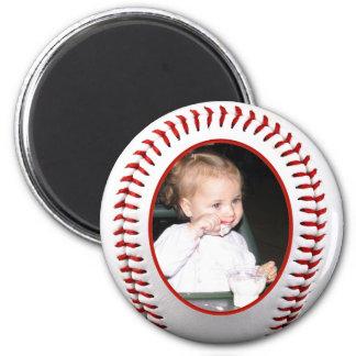 Baseball Photo Frame Template 6 Cm Round Magnet