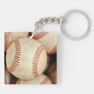 Baseball Photo Square Acrylic Key Chain