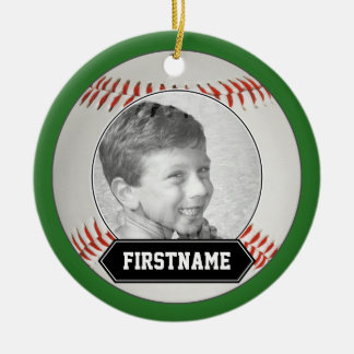 Baseball Photo Ornament for Youth