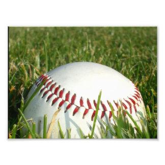 Baseball photo print