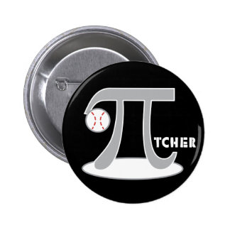 Baseball Pi-tcher - Funny Pi Day 6 Cm Round Badge
