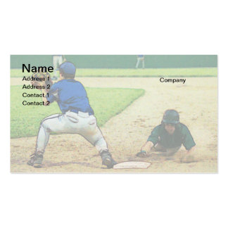 baseball pickoff attempt business card template