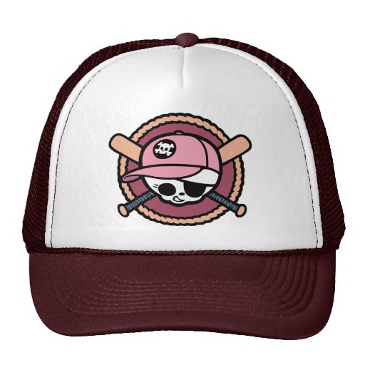Baseball Pirate -Girls Trucker Hats