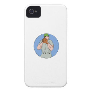 Baseball Pitcher Starting To Throw Ball Circle Dra iPhone 4 Case-Mate Case
