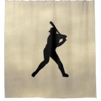 Baseball Player at Bat Shower Curtain