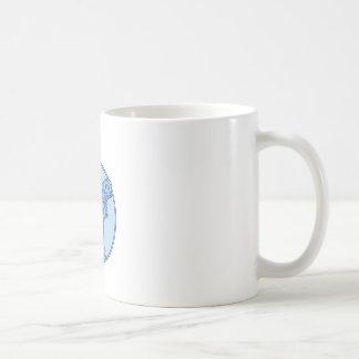 Baseball Player Batter Batting Circle Mono Line Coffee Mug