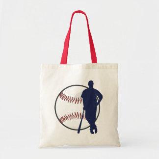 Baseball Player Canvas Bag