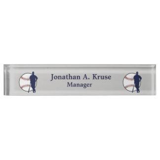 Baseball Player Desk Name Plates