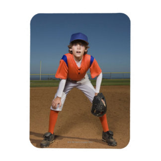 Baseball player rectangular magnet
