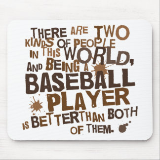 Baseball Player (Funny) Gift Mousepads