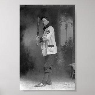 Baseball Player holding Bat Poster
