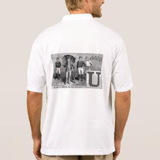 Baseball Player Initial U Rhyme Vintage Umpire Polo Shirt