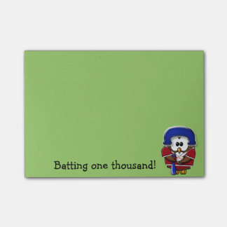 baseball player owl post-it notes