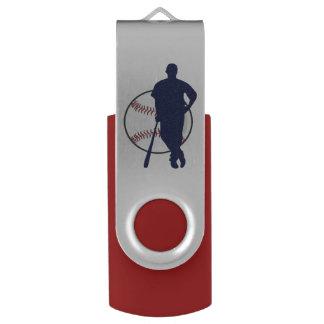 Baseball Player Personalized Swivel USB 2.0 Flash Drive