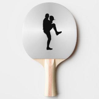 Baseball Player Pitcher Windup Ping Pong Paddle