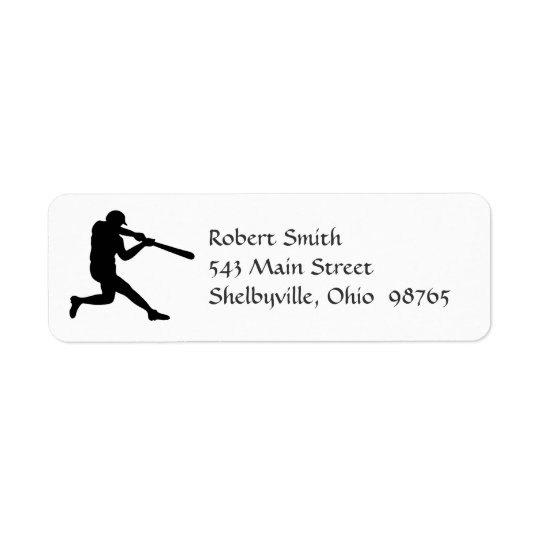 Baseball Player Return Address Labels