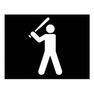 Baseball Player Silhouette Postcard