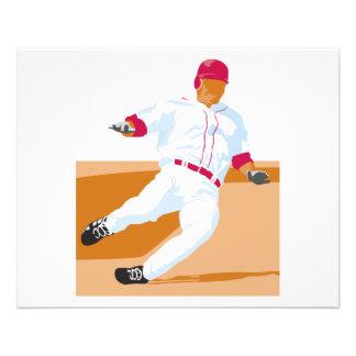baseball player slide vector graphic 11.5 cm x 14 cm flyer