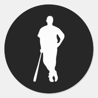 Baseball Player Sticker