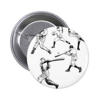 Baseball players design button