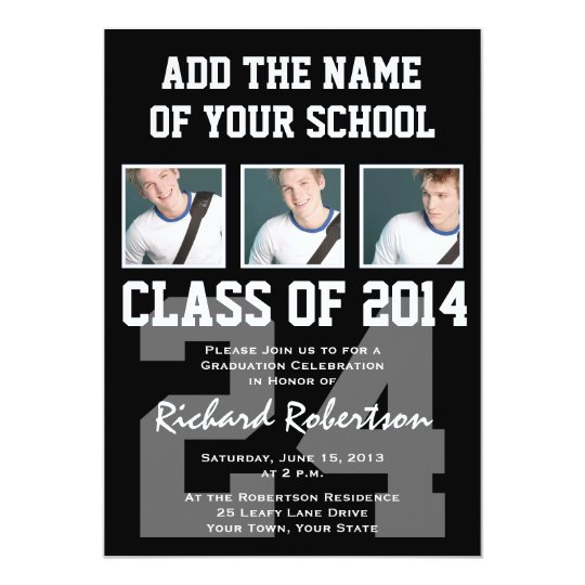 Baseball Player's Graduation Class of 2014 Varsity Card