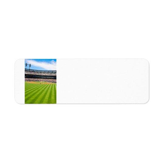 Baseball Postage Address Thingy Return Address Label