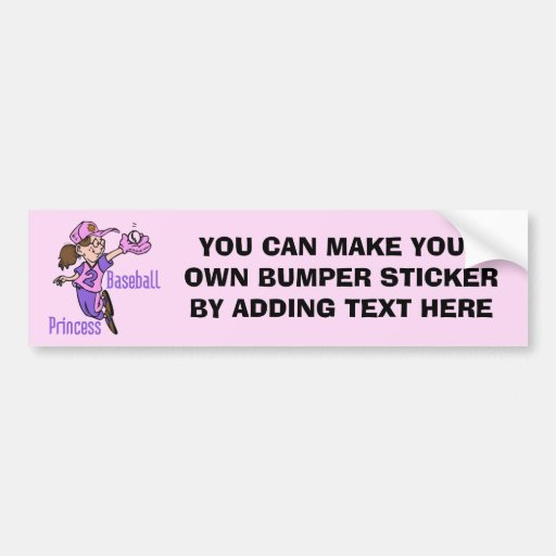 Baseball Princess T shirts and Gifts Bumper Sticker