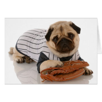 Baseball Pug Card
