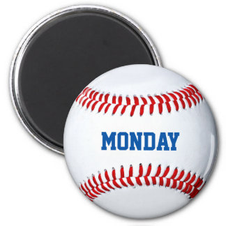Baseball Refrigerator Magnet Day Of The Week