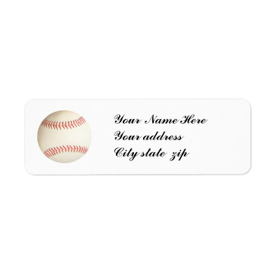 BASEBALL,- RETURN ADDRESS LABELS