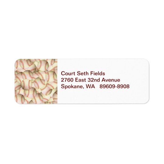 Baseball  Return Mailing Label Return Address Label