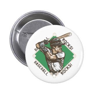Baseball Rocks Batter Button