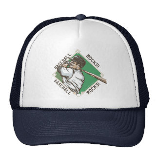 Baseball Rocks Batter Hat