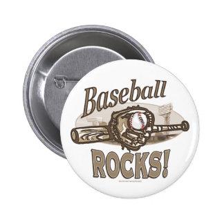Baseball Rocks Button