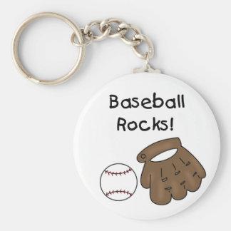 Baseball Rocks T-shirts and Gifts Key Chains