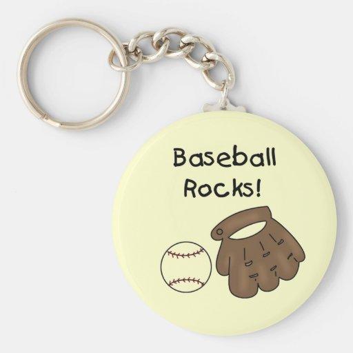 Baseball Rocks T-shirts and Gifts Keychains