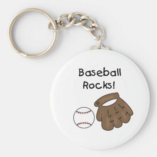 Baseball Rocks T-shirts and Gifts Keychain