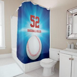 Baseball Rules | Cool Sport Gift Shower Curtain