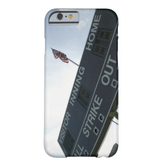 Baseball scoreboard with American flag Barely There iPhone 6 Case